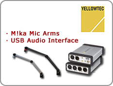 Yellowtec - Digital Console, Plug & Play USB Audio Interface, Microphone Arms