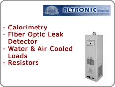 Altronic - Calorimetry, Fiber Optic Leak Detector, Water & Air Cooled Loads, Resistors