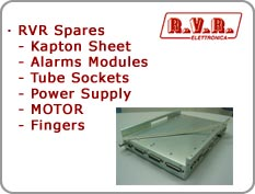 RVR Spares - Kapton Sheet, Alarms Modules, Tube Sockets, Power Supply,  MOTOR, Fingers